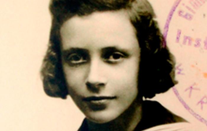 Janina when a student at Instytut Maryjny on 16 Pędzichów street. Kraków 1945.