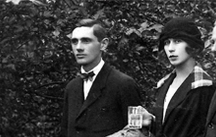 Józefa and Tadeusz Latawiec, Janina's adopted Polish parents. Kraków c. 1925.
