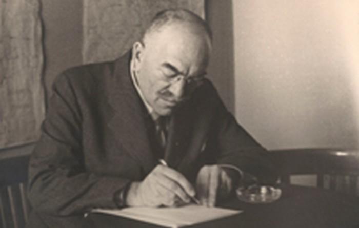 Józef Fiszer's father, head of Kraków sewage plant. 1946.