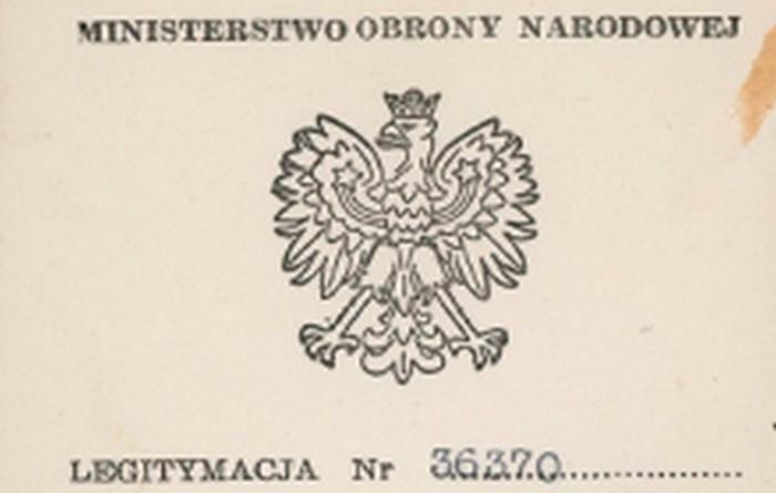 Srebrny Krzyż Zasługi z Mieczami certificate. London 1948.