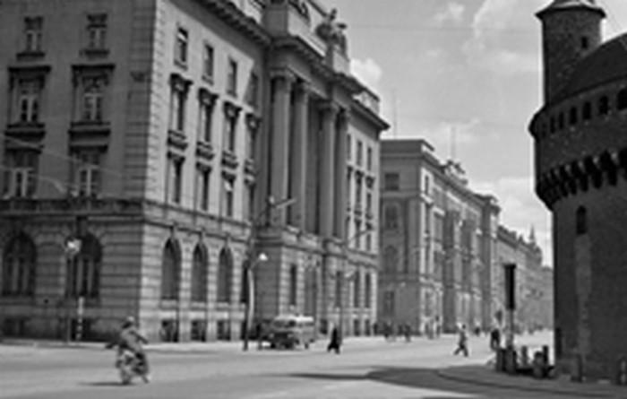 Bank Emisyjny in Kraków (today the National Bank of Poland). Photo: H. Hermanowicz. Property of the Historical Museum of the City of Kraków (MHK)