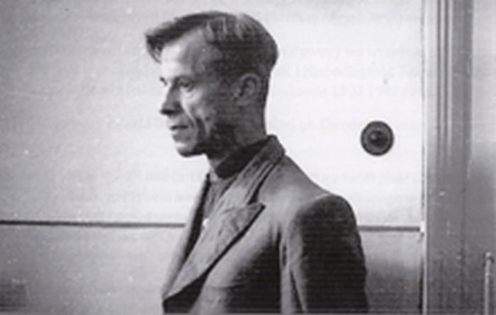 Józef Ostafin in prison. Kraków 1946.