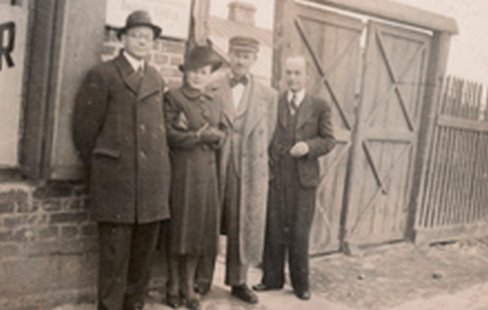 Józef Ostafin (second from the left). Sielce c. 1942.