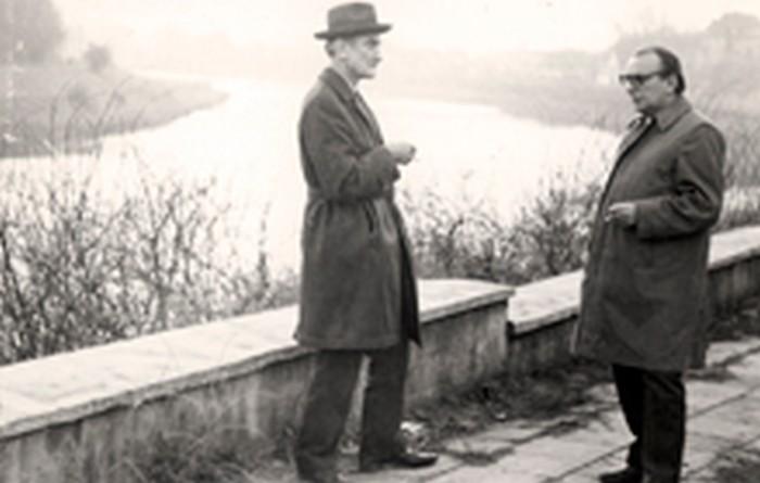 Stanisław Ptak with a friend in the 1970s.