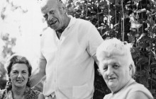 Halina and Róża Wohfeiler with Oskar Schindler, Haifa 1965, private property
