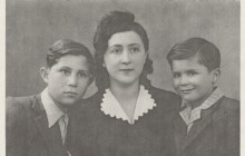 "Leon Rubach with his mother Genia and brother Marek, Częstochowa, 1946. Leon Rubach, ""The Autobiography of Leon Rubach. The First Twenty Years"", New Jersey 2009"