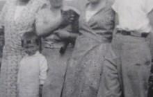 The Tomaszewski family with Zofia's friend Felicja Menhard and her niece, Magda Piasecka