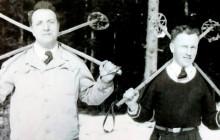 Dawid Leiman z kolegą na nartach, ok. 1938 r., wł. prywatna