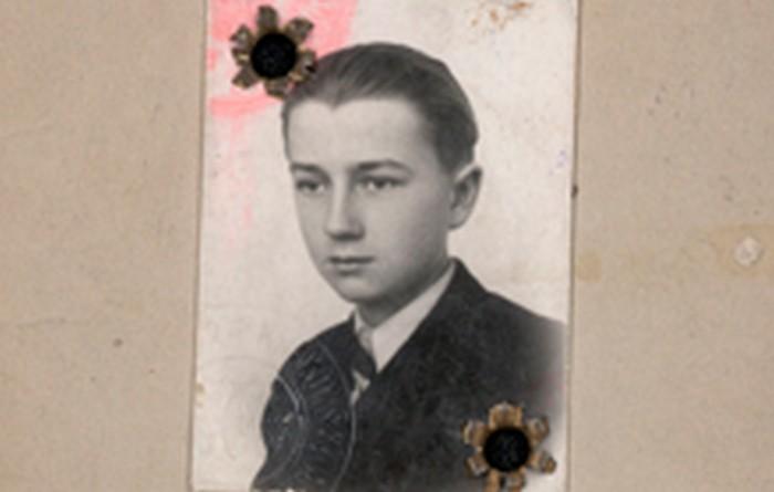 Józef Fiszer, legitymacja szkolna, Kraków ok. 1940 r., wł. prywatna