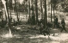 Partyzanci Samodzielnego Batalionu Skała w marszu na Warszawę, IX 1944 r., wł. prywatna