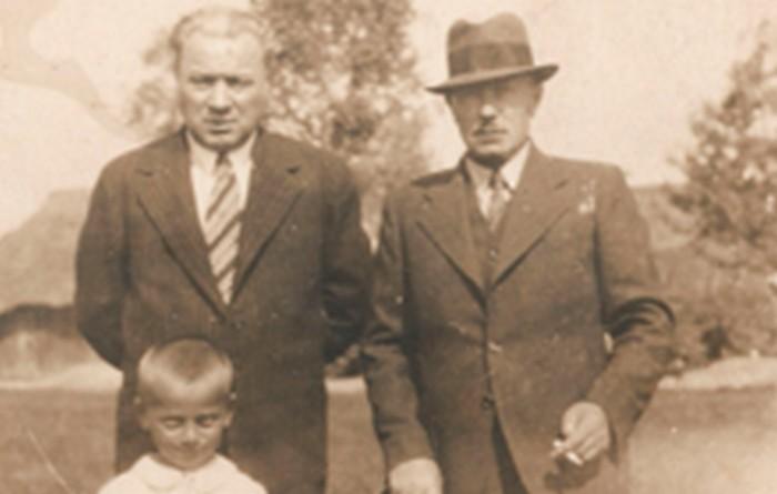 Ojciec Doroty – Michał Girtler z kolegą, lata 40. XX w., wł. prywatna