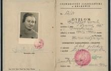 Dyplom ukończenia studiów, Kraków 1950 r., wł. prywatna