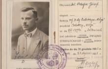 Legitymacja Związku Strzeleckiego Józefa Ostafina, 1932 r., wł. prywatna