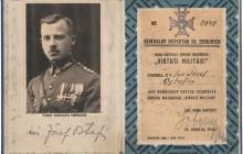 Legitymacja Virtuti Militari Józefa Ostafina, 1933, wł. prywatna