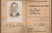 Legitymacja poselska Józefa Ostafina, 1935 r., wł. prywatna