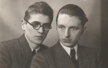 Stanisław Ptak z Zygmuntem Marcińskim, przed 1939 r., wł. prywatna