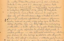 Prośba o ułaskawienie St. Ptaka napisane przez matkę Stanisława –  Marię, Kraków 1947 r., wł. IPN w Krakowie